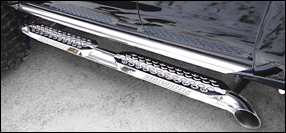 Stainless Exhaust Bar Side Steps